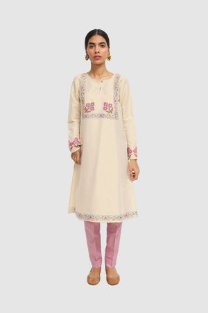 Generation - Skin Noor Bano Block Printed Embellished Kurta - 1 PC