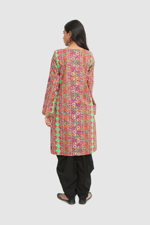 Generation - Multi Color Rajastani Popstar Kurta - 1 PC