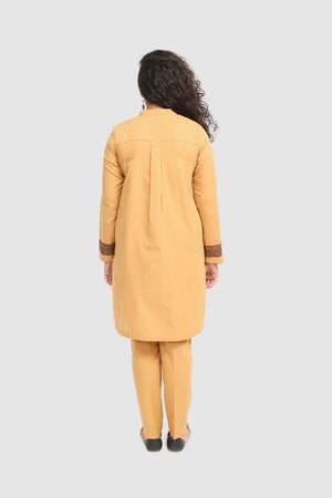 Generation - Skin Kashmiri Jama Assymetric Shirt - 2 PC
