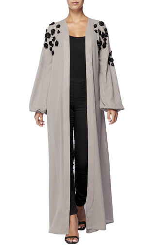 Raishma - Grey Abaya One