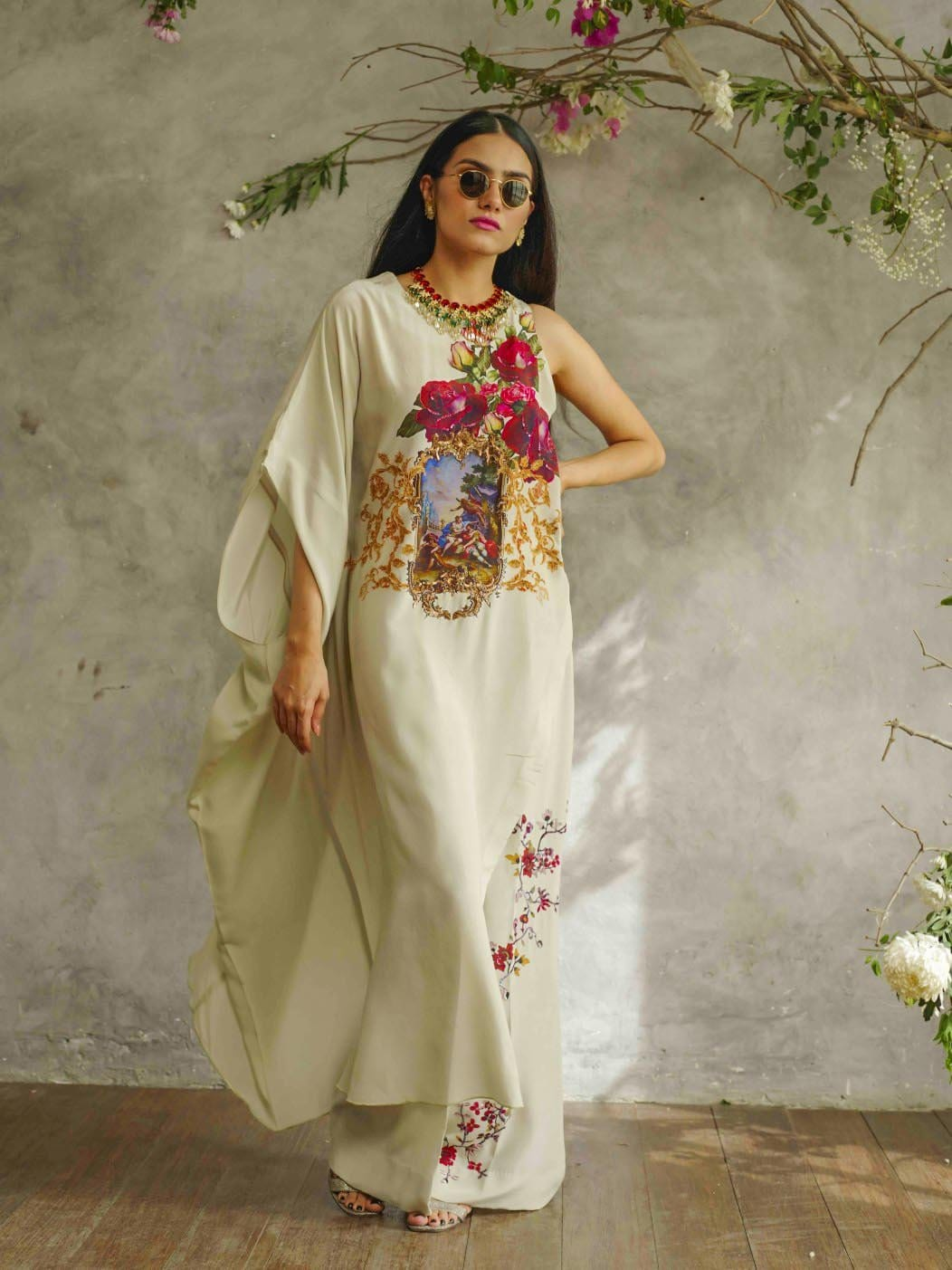Shamaeel - Red Rose Kaftan