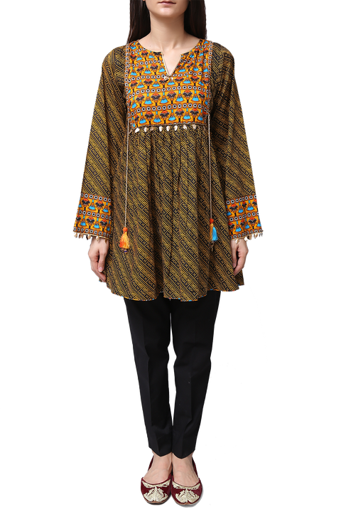 Generation - Black Voile Egyptian Flare Tunic