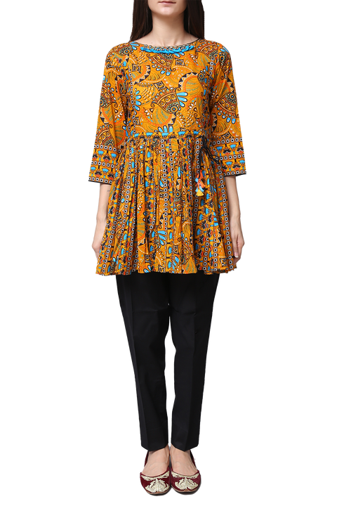 Generation - Yellow Voile Egyptian Flare Tunic