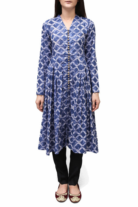Generation - Blue Ikat Blue Flare Top