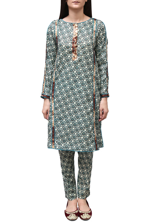 Generation - Green Co-Ords Shalwar Kameez