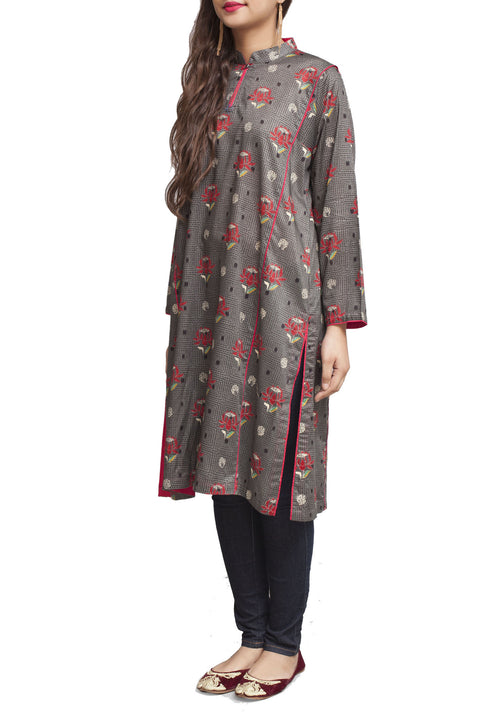 Generation - Grey Kacha Tanka Band Kameez