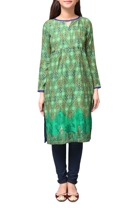 Generation - Green Viscose Makran Tales Tunic
