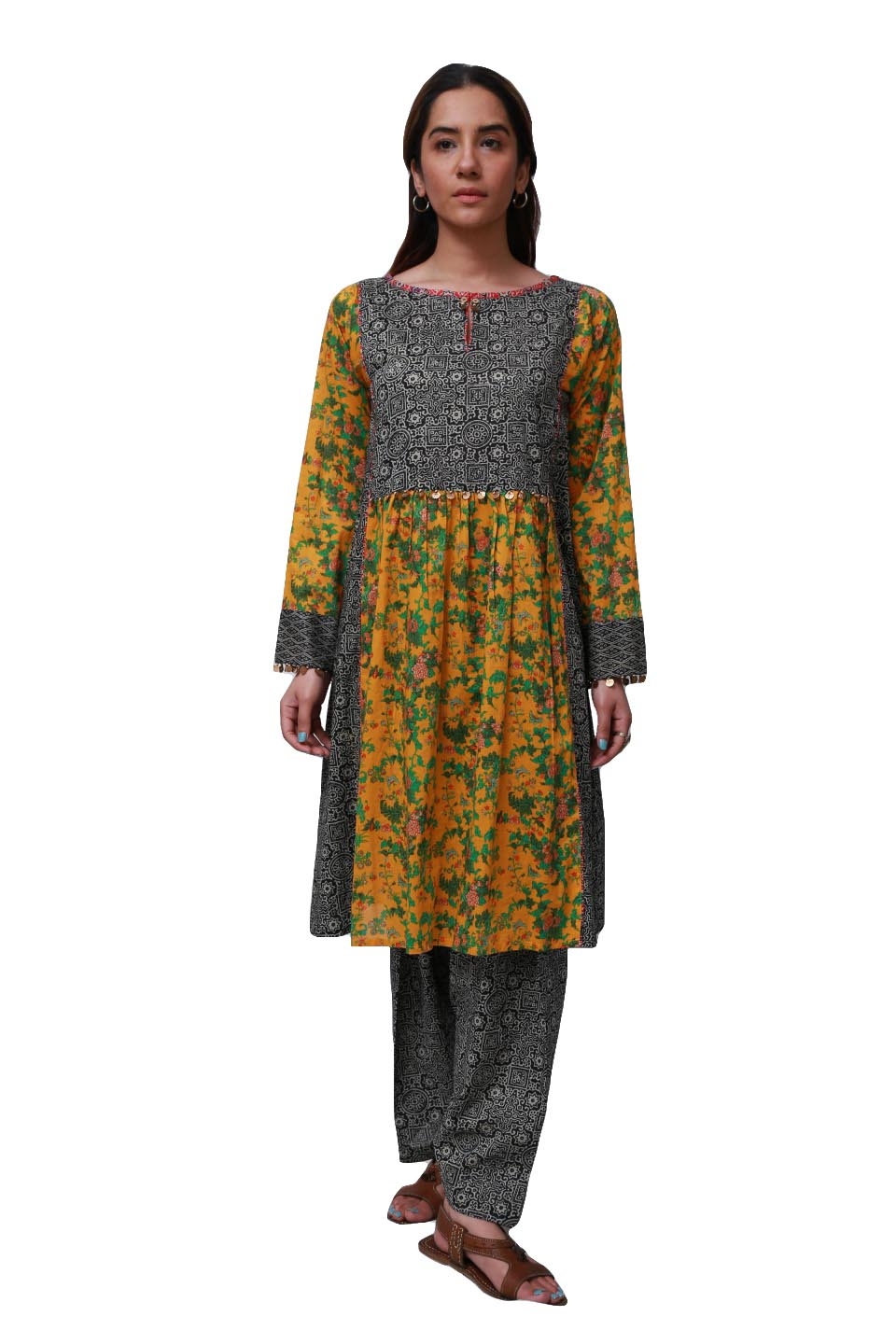 Generation - Yellow Asiatic Panelled Frock