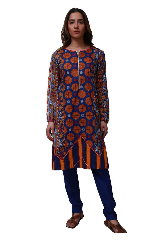 Generation - Blue Phulkari Suit