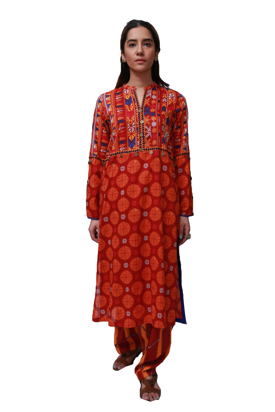 Generation - Maroon Phulkari Co-Ords