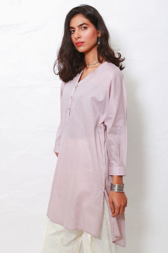 Generation - Purple Meena Box Cut Kurta