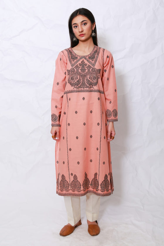 Generation - Pink Kashmiri Embroidery Shirt