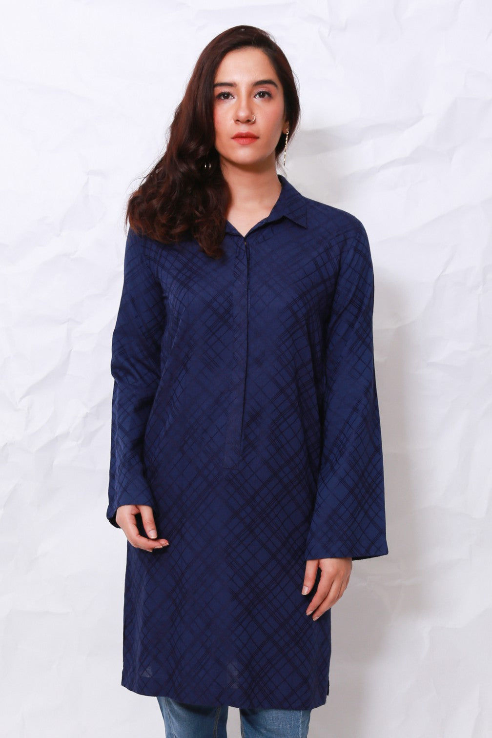 Generation - Blue Solid Tunic