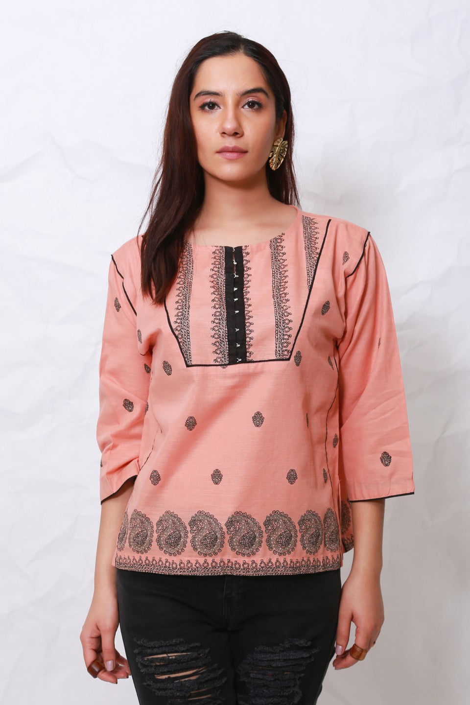 Generation - Pink Kashmiri Top