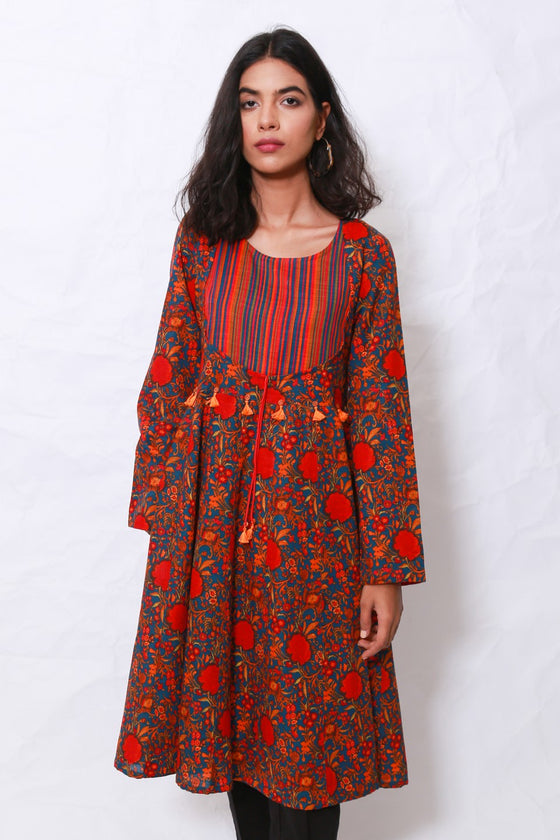 Generation - Blue Kashmiri Flared Tunic