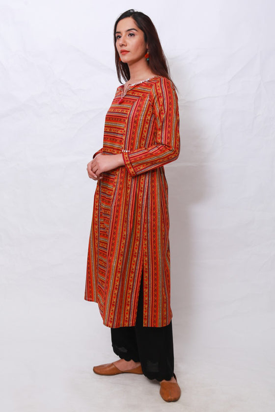 Generation - Orange Suzani Tunic