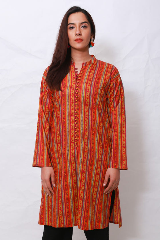 Generation - Orange Suzani Kurta