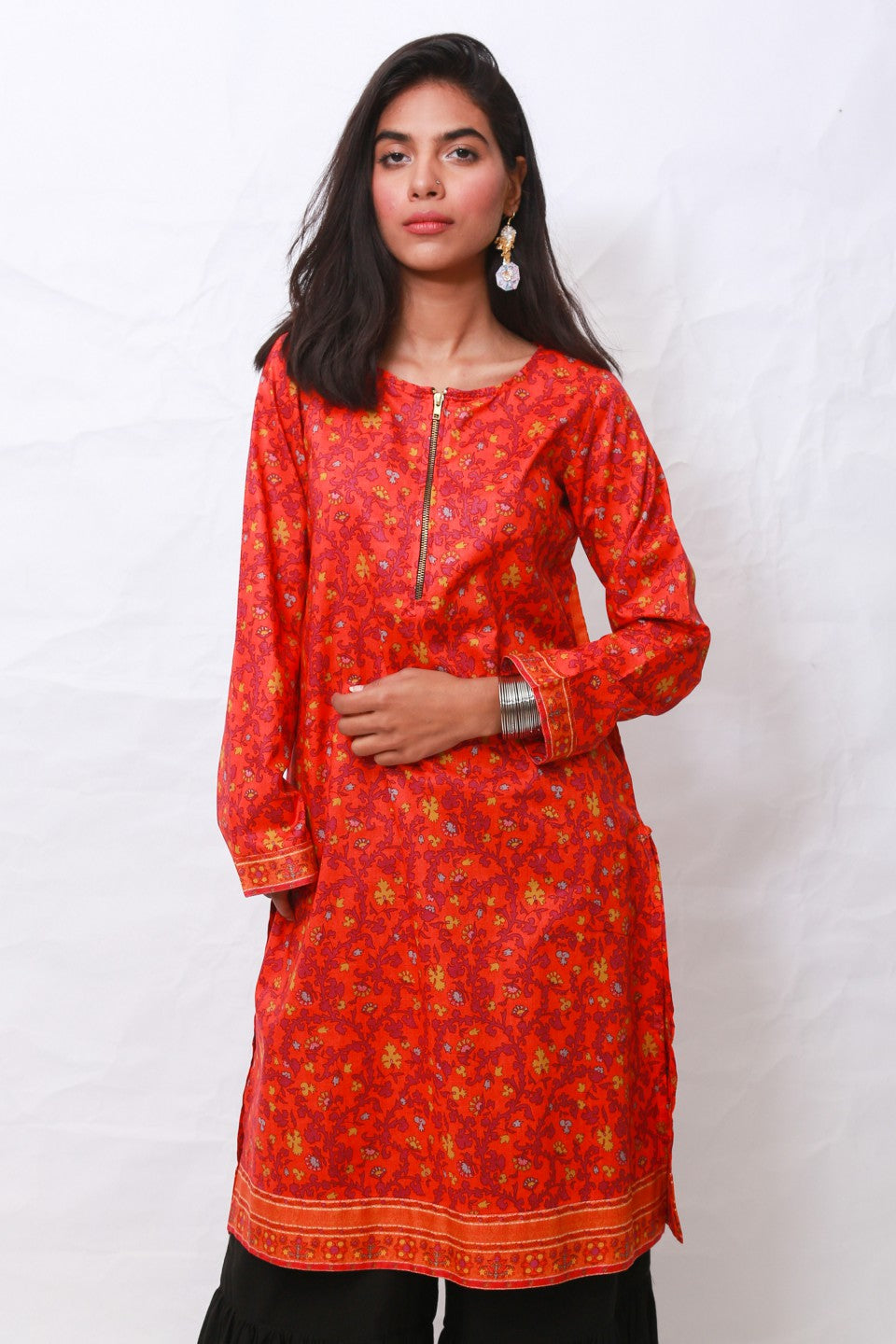 Generation - Orange Suzani Shirt