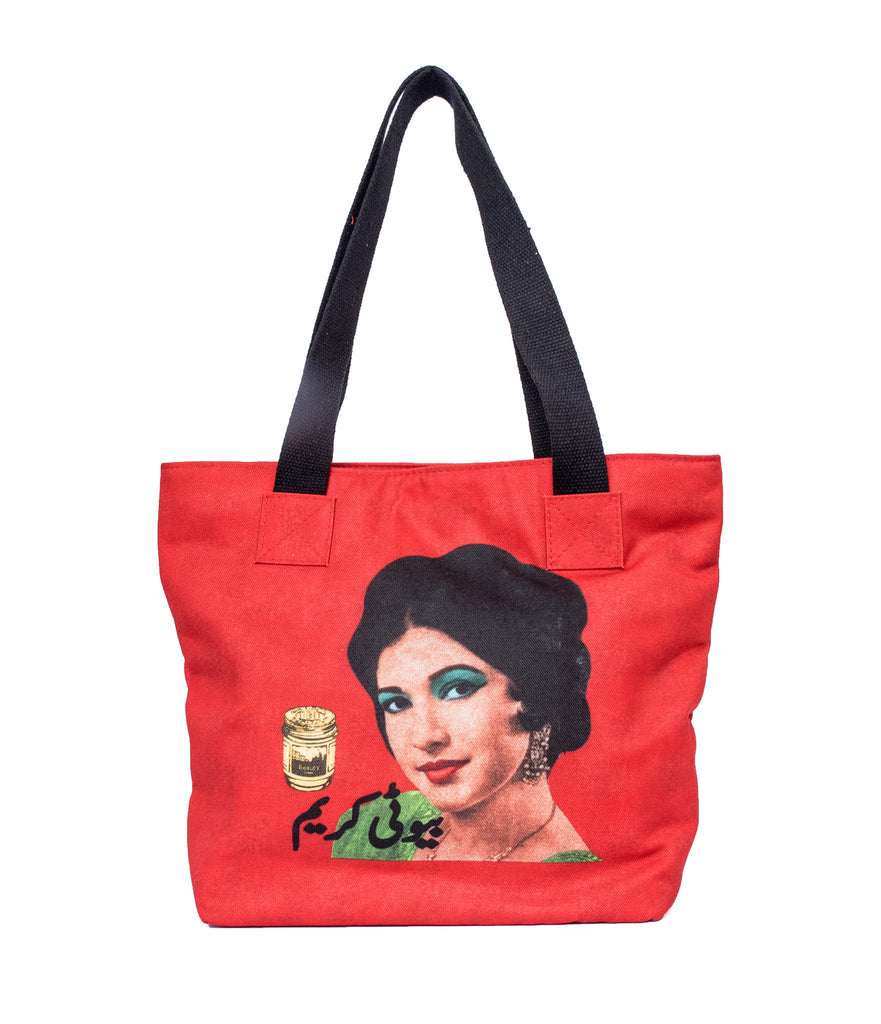 Mahin Hussain - Red  The Beauty Love Tote Bag