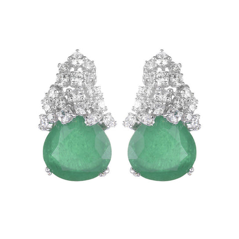 Amishi - Ballia Green Crystal Drop Earrings