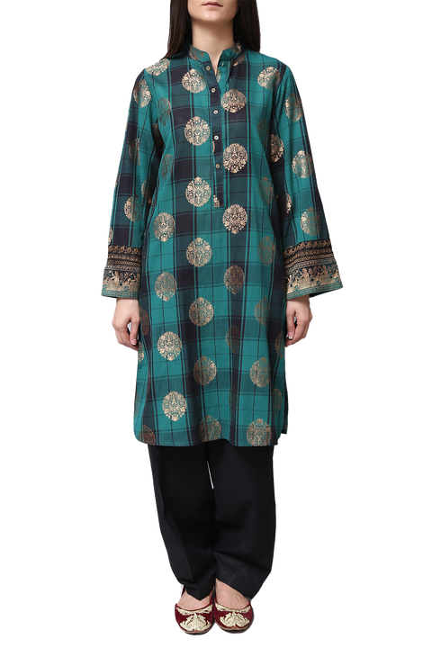 Generation - Green Jacquard Treasure Trove Classic Fit Suit
