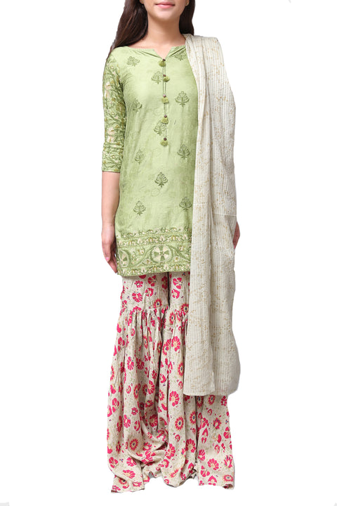 Generation - Green Tribal Artisan Jacquard Suit