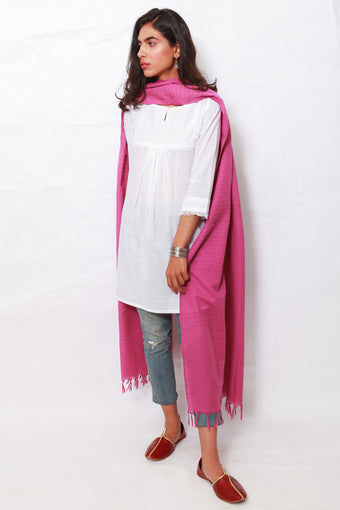 Generation - Purple Self Striped Dupatta
