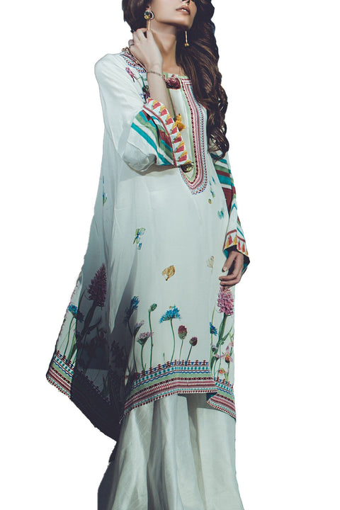 Tena Durrani - Wild Bloom Crepe & Silk Shirt