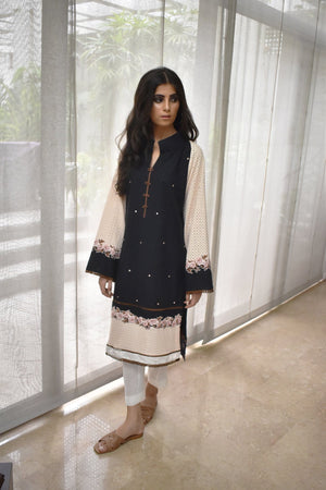 Insam - Black & Peach Kurta