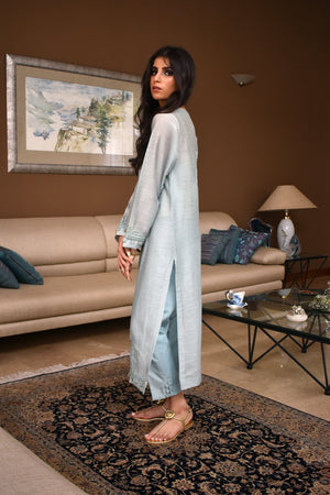 Insam - Ice Blue Kashmila Kurta