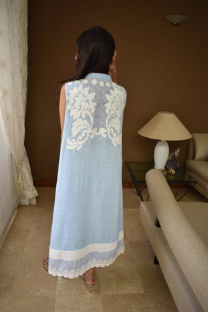 Insam - Powder Blue Flair Kurta