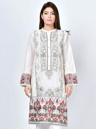 Limelight - Offwhite Embroidered Lawn Shirt - 1 PC - P1583