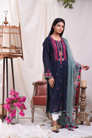 Insam - Navy Blue kurta