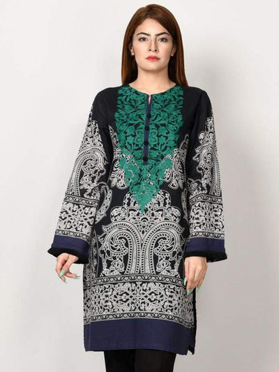 Limelight - Black Embroidered Lawn Shirt - 1 PC - P2191