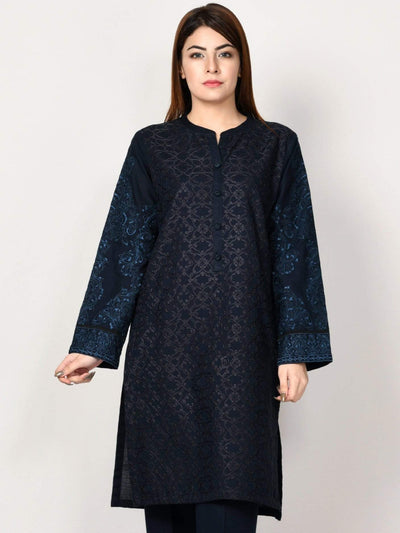 Limelight - Dark Blue Embroidered Khaddar Suit - P1787