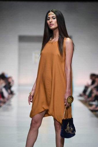 Yasmin Zaman - Mustard Short Dress