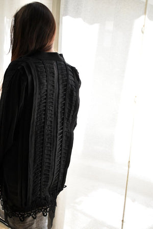 Insam - Black Pleated Tunic
