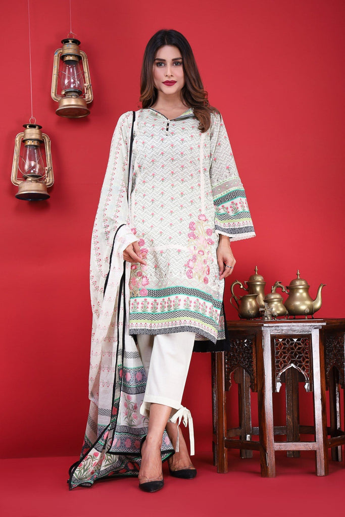 Bonanza Satrangi - Beige Grace A - 3 Pc