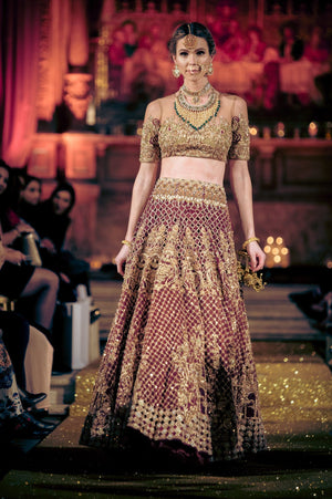 Rani Emaan - Organza & Net Short Peplum With  Lehnga - The Edifice