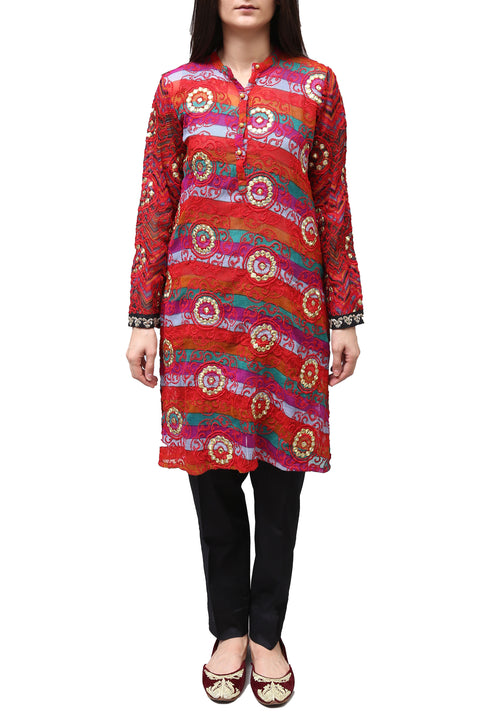 Generation - Red Rainbow Kameez With Shameez
