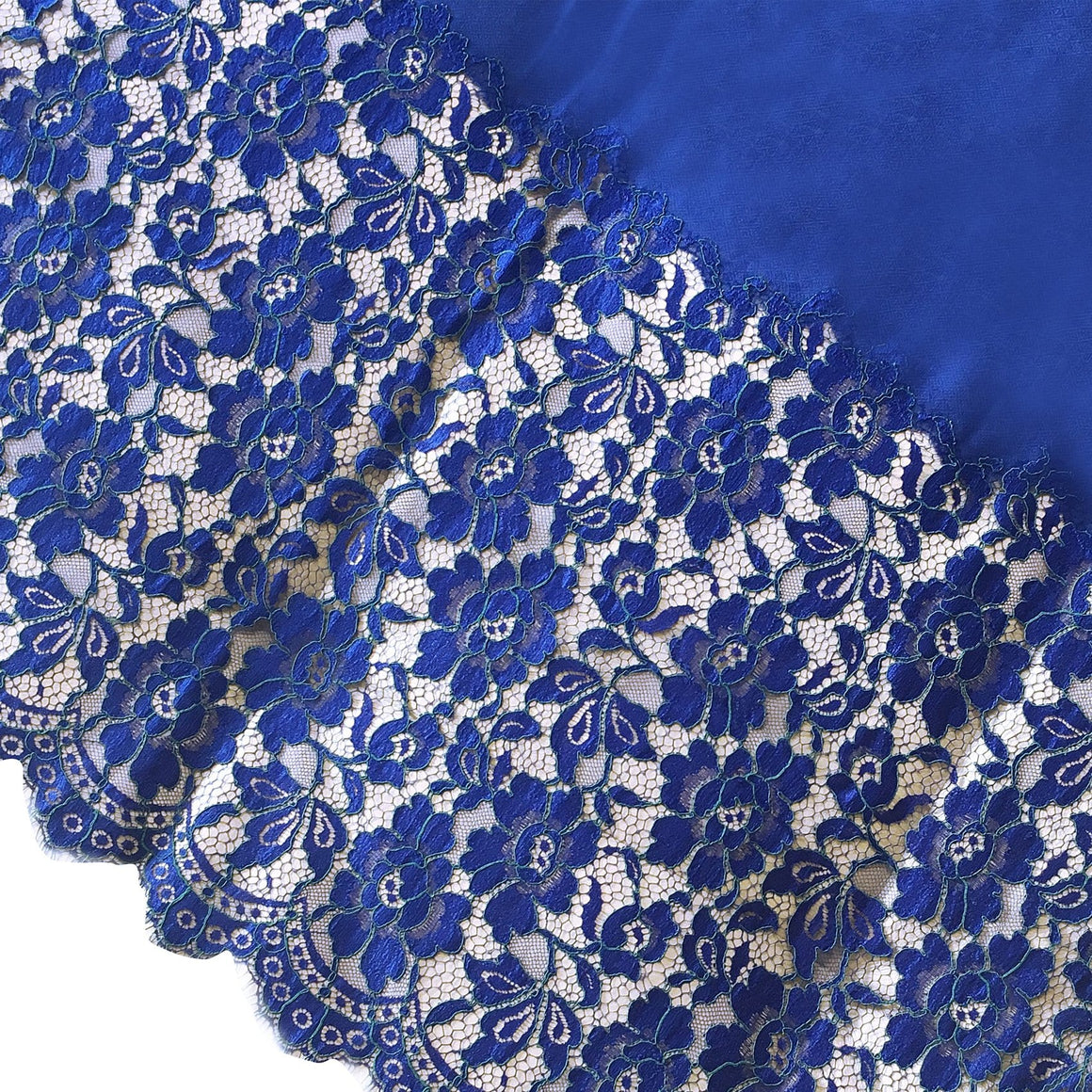 Amishi - Royal Blue Luxury Lace Scarf