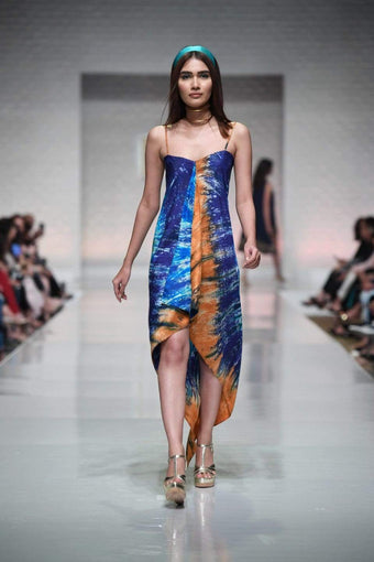 Yasmin Zaman - Tie Dye Handkerchief Dress