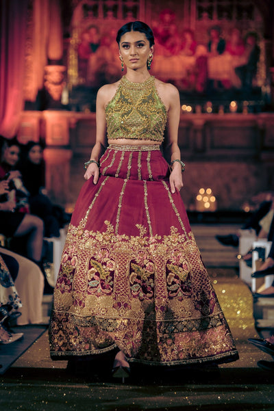 Tena Durrani - Red Embellished Lehnga With Choli