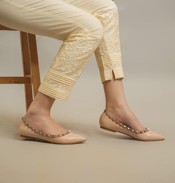 Ego - Cream  Floral Pants