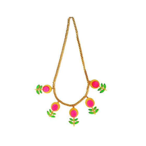 Red Dot Jewels - Flowers in Bloom Necklace