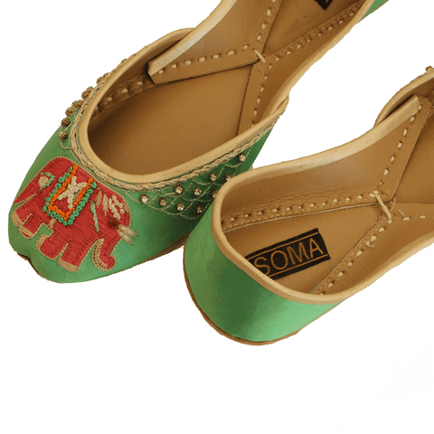 Soma - Green Elli Hand Crafted Footwear