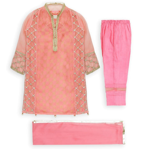 Hopscotch - Peach Pretty Pink Three Piece Set