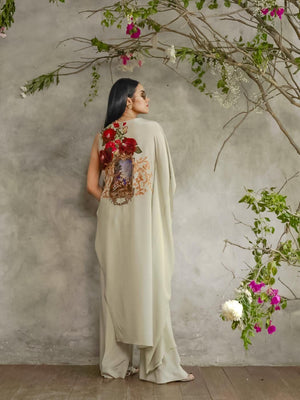 Shamaeel - Red Rose Kaftan - AG-5
