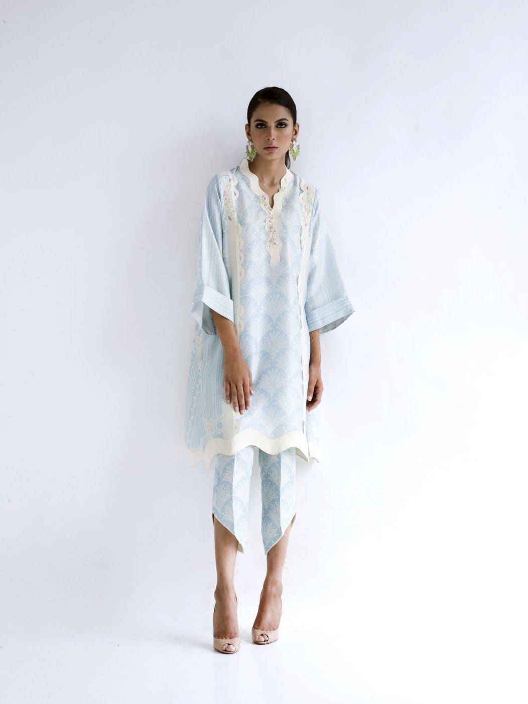 Sania Maskatiya - Raw Silk Digitally Printed Boxy Kurta