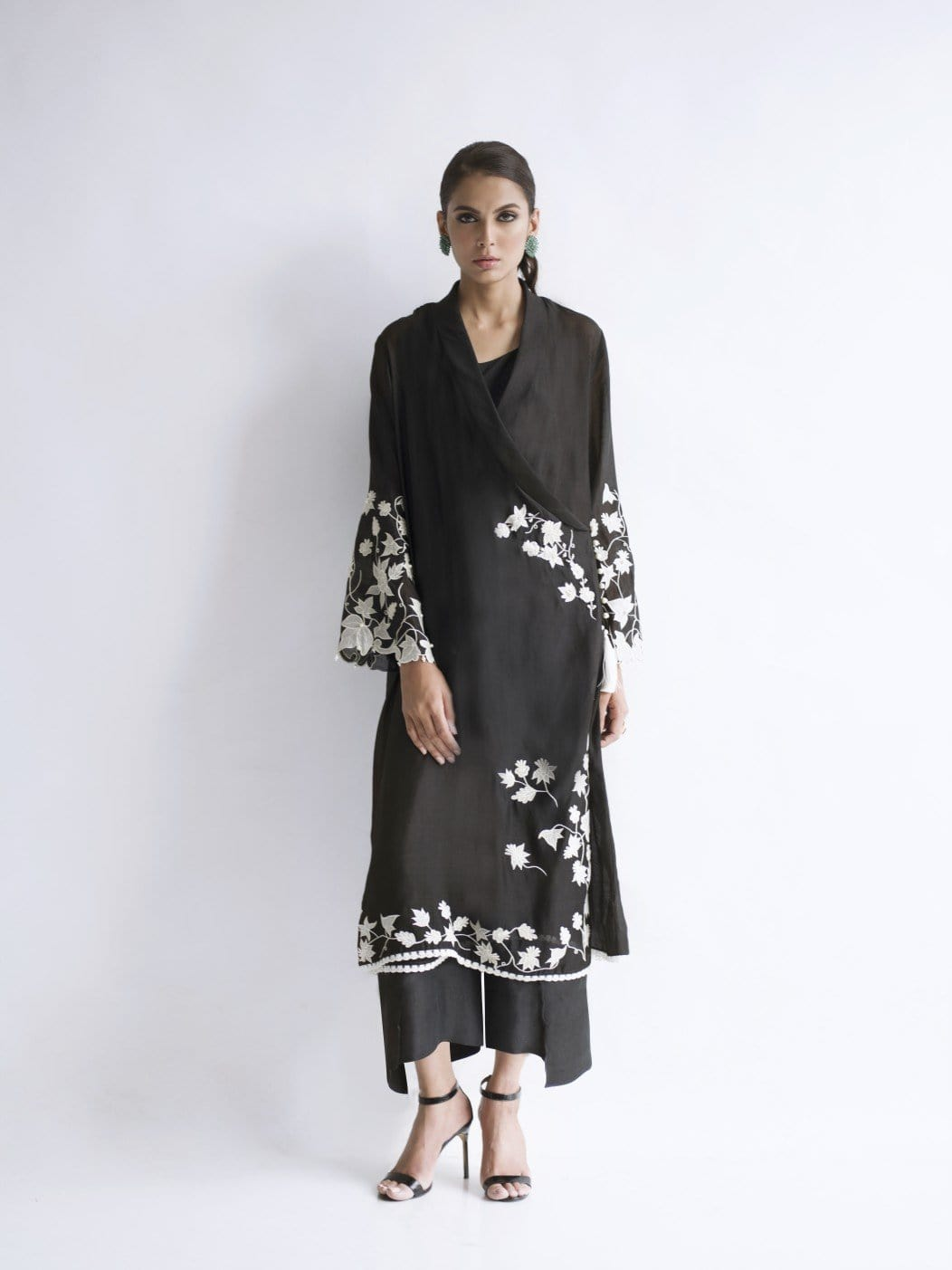Sania Maskatiya - Cotton Silk Embroidered Layered Shirt